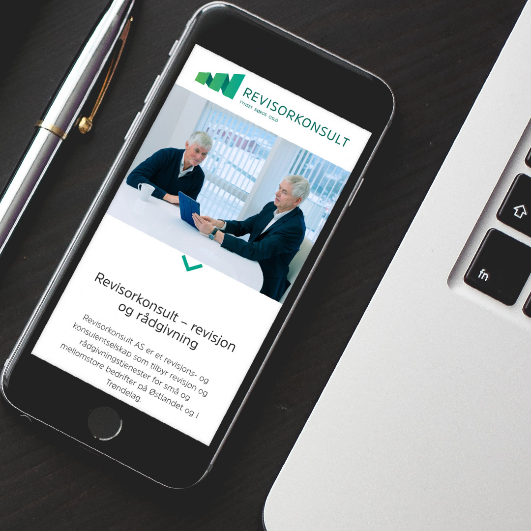 Bilde av nettsiden til Revisorkonsult, laget av Haus Byrå