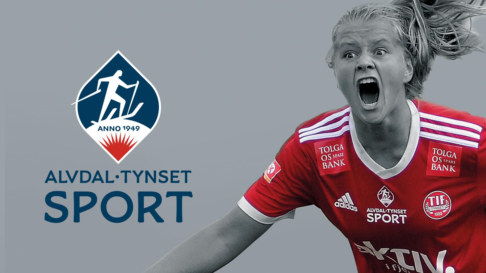 Fotballtrøye med Alvdal Tynset sport-logo