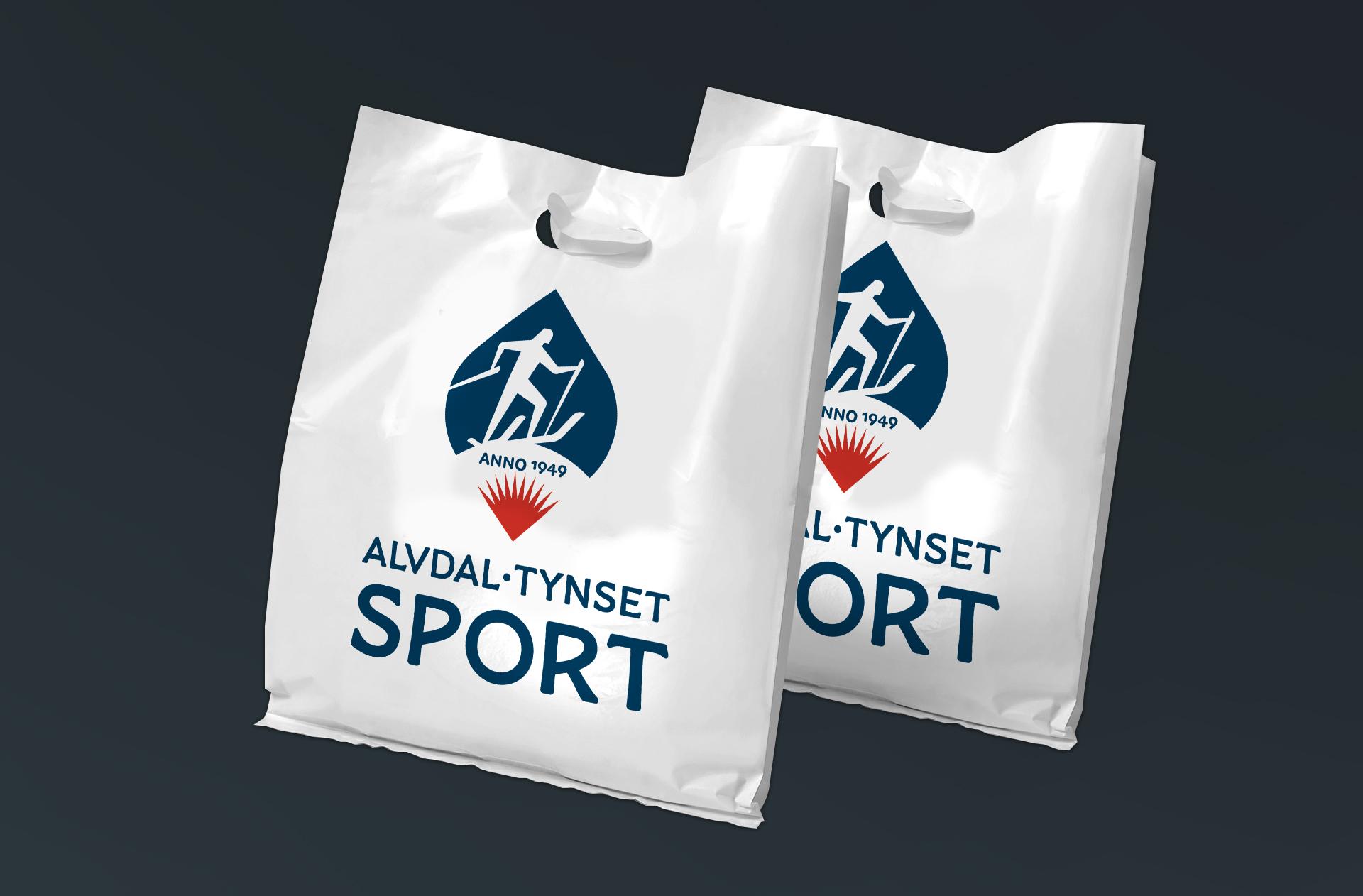 Bæreposer for Alvdal Tynset Sport, laget av Haus Byrå
