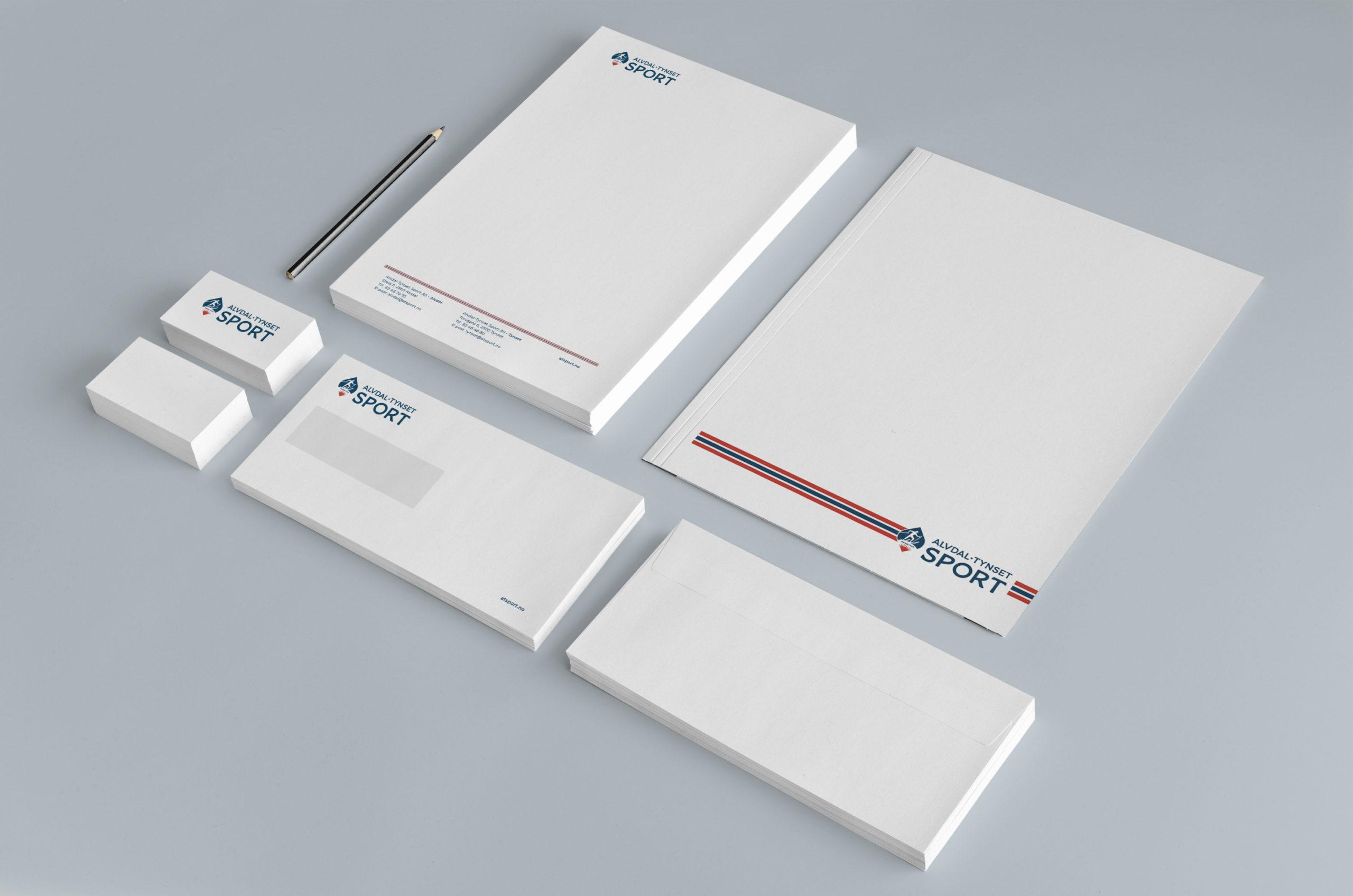 Postalia for Alvdal Tynset Sport, laget av Haus Byrå