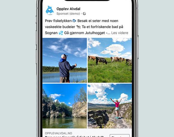 Facebook- og Instagramkampanje for Opplev Alvdal