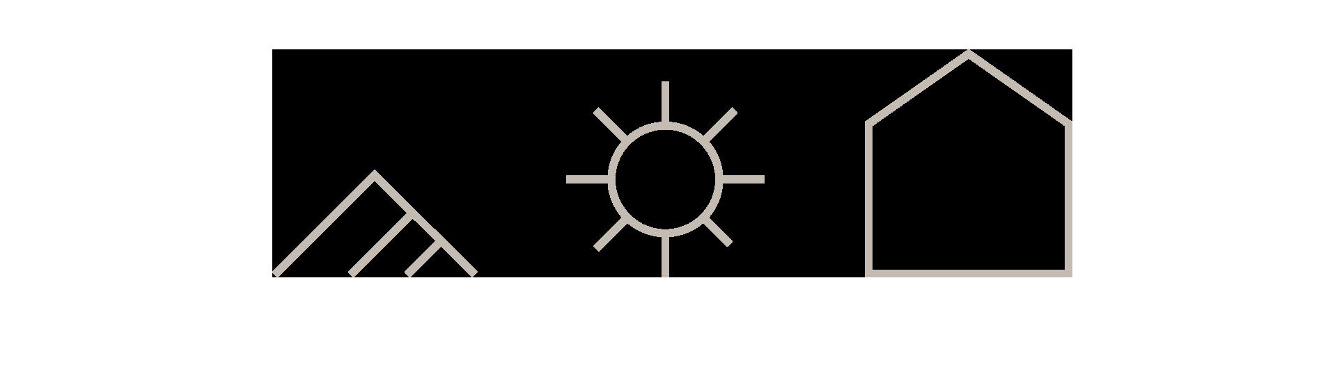 Symboler for Raubergstulen, visuell identitet og grafisk profil, Haus bryå