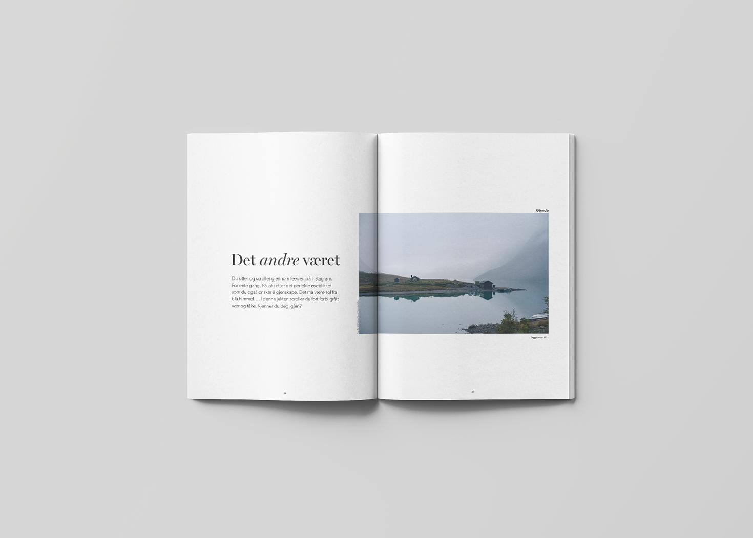 Innside i Fjell og turistguiden Guide - laget av Haus byrå