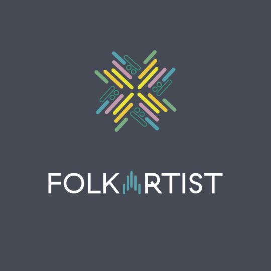 logo folkartist blå bakgrunn
