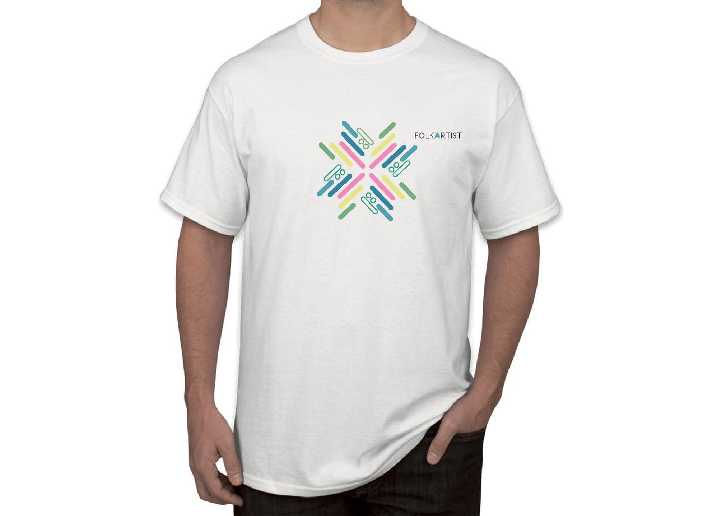 T-skjorte med logoen til Folkartist