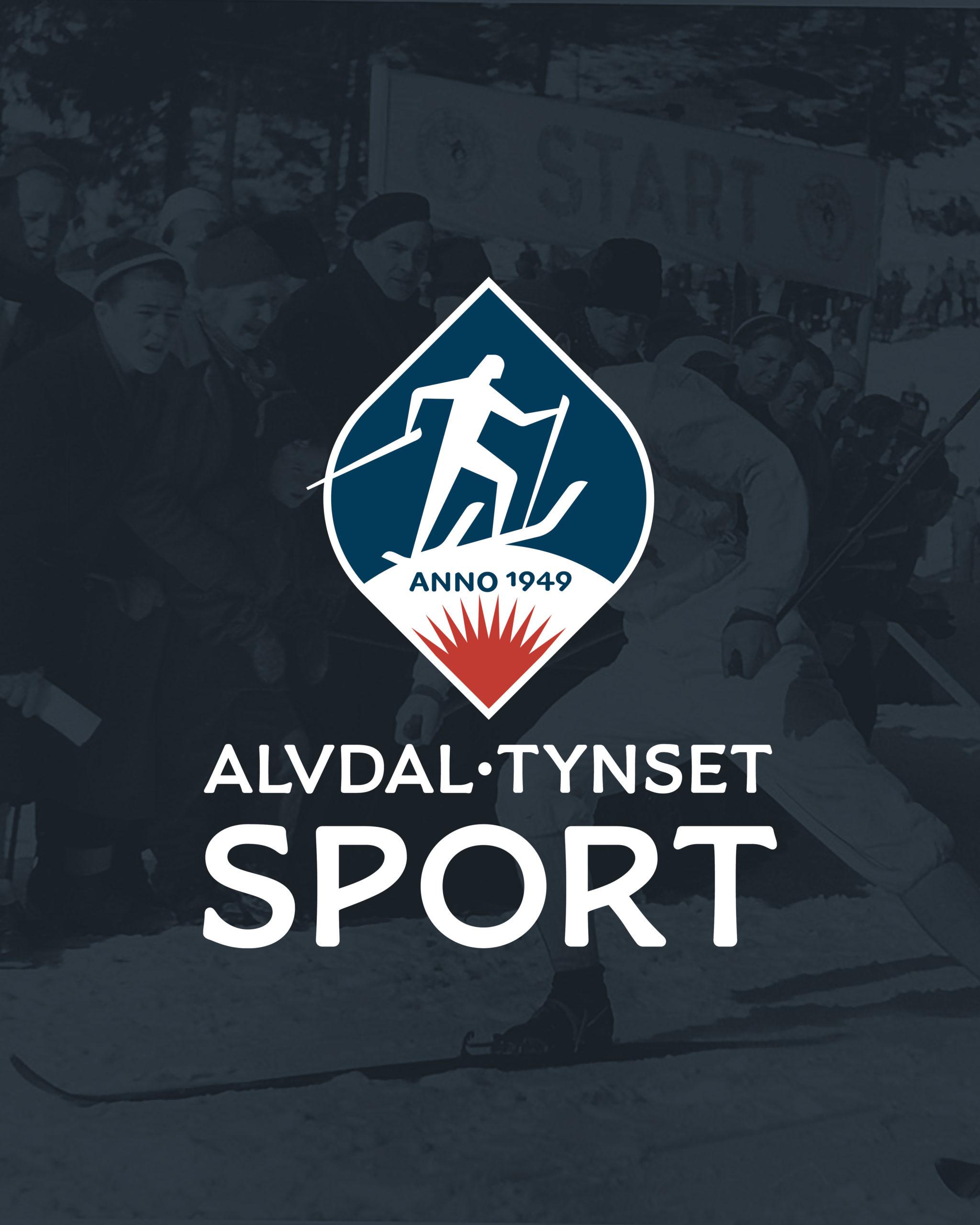 Logo og visuell profil for Alvdal Tynset Sport, laget av Haus Byrå
