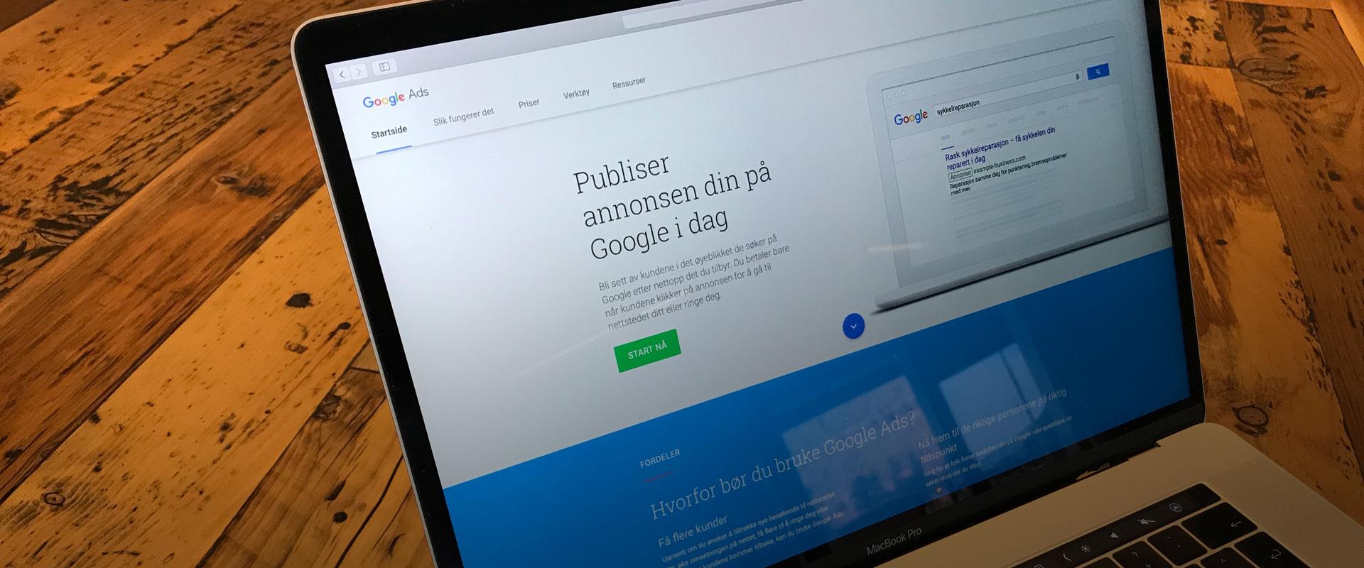 hva koster google ads?