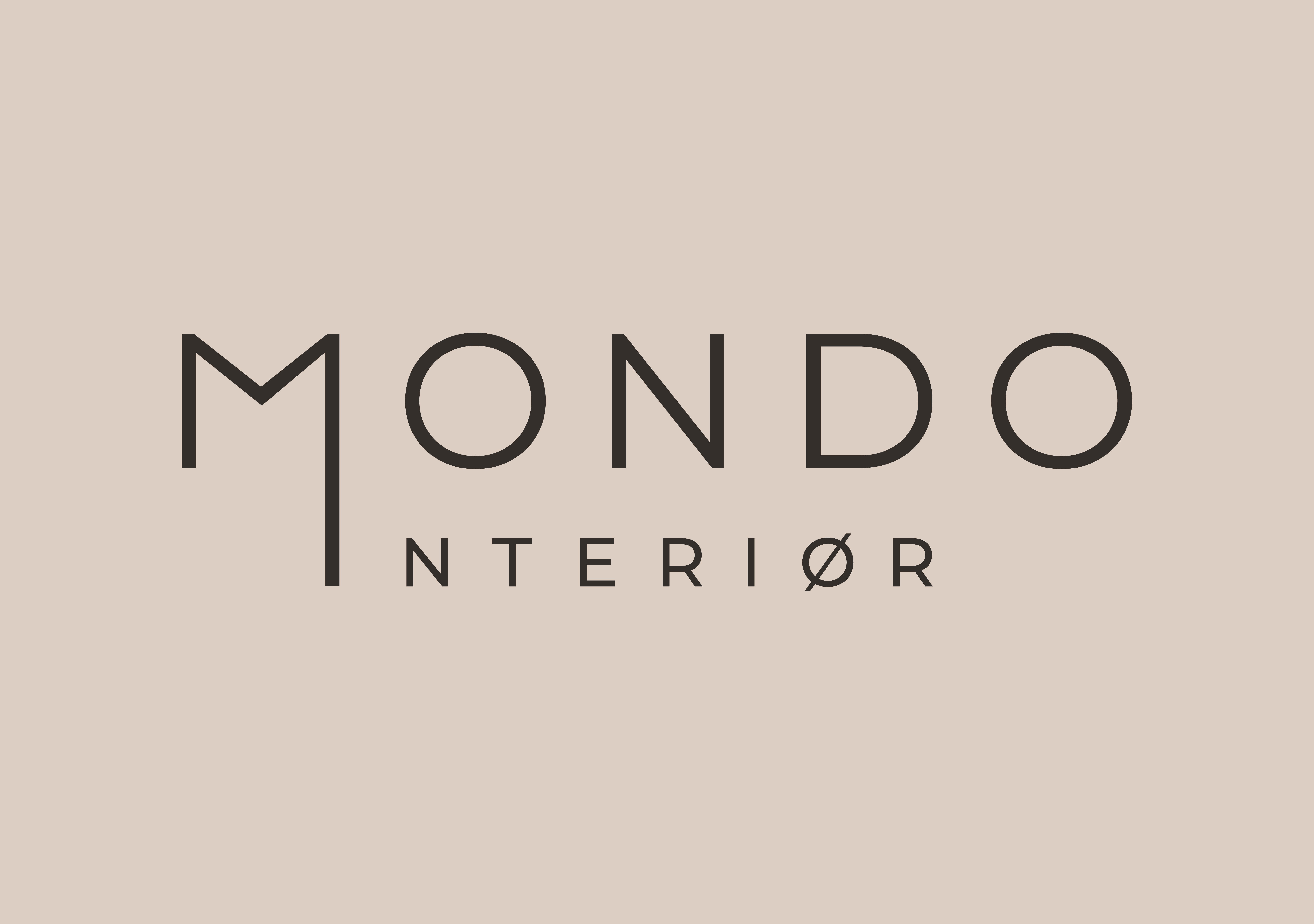 Logo for Mondo Interiør, laget av Haus Byrå