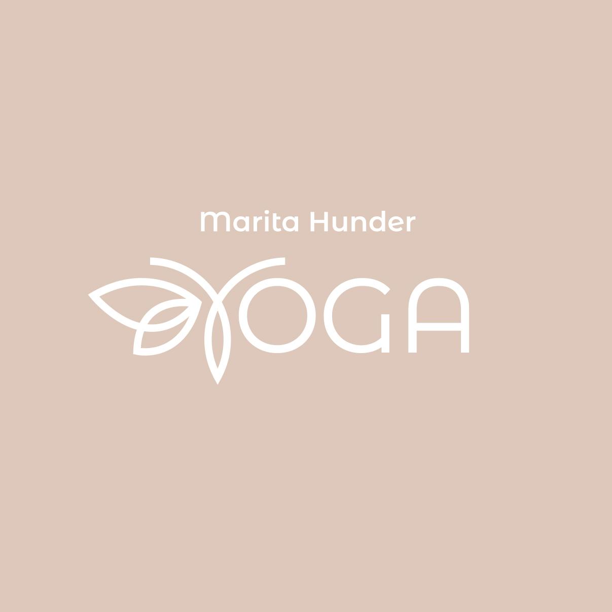 Bilde av logo for Marita Hunder Yoga, laget av Haus Byrå