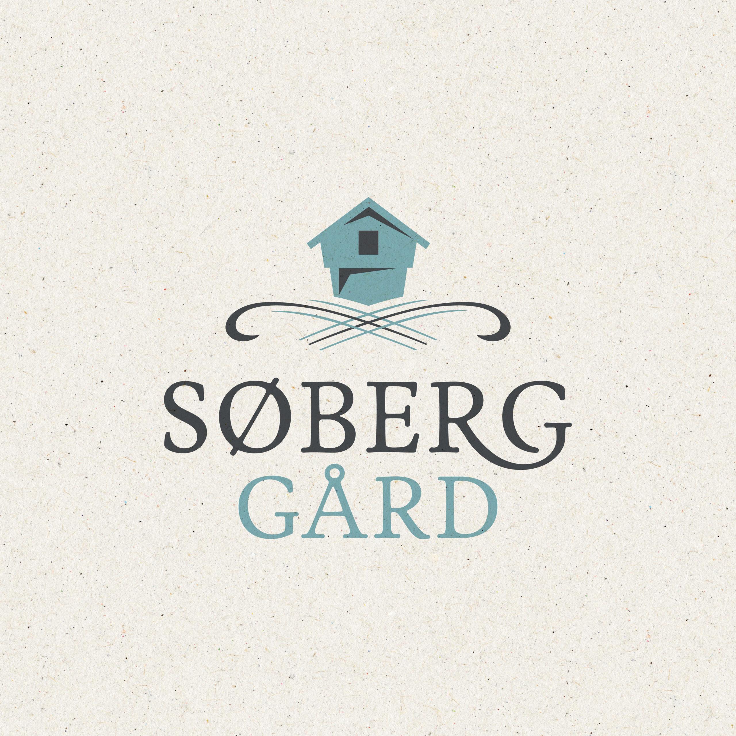 Logo og visuell identitet for Søberg gård, laget av Haus Byrå