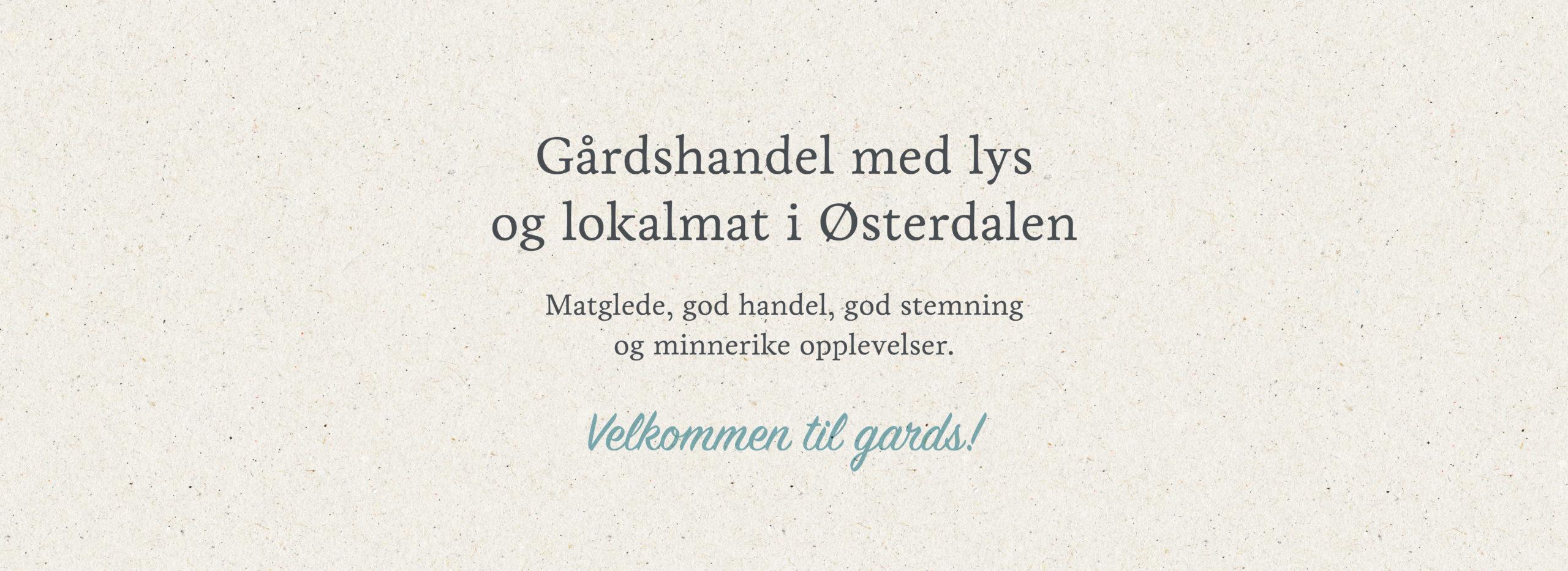 Bilde av pay-offen til Søberg Gård, laget av Haus Byrå