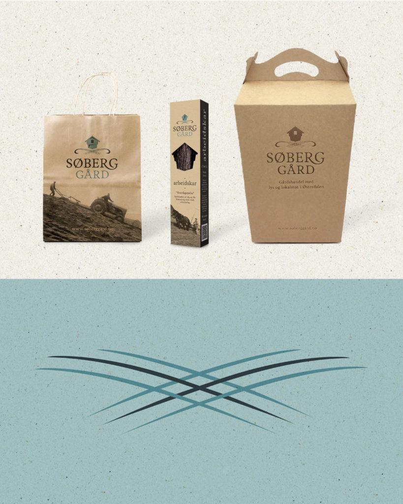 Emballasje laget for Søberg Gård, av Haus Byrå