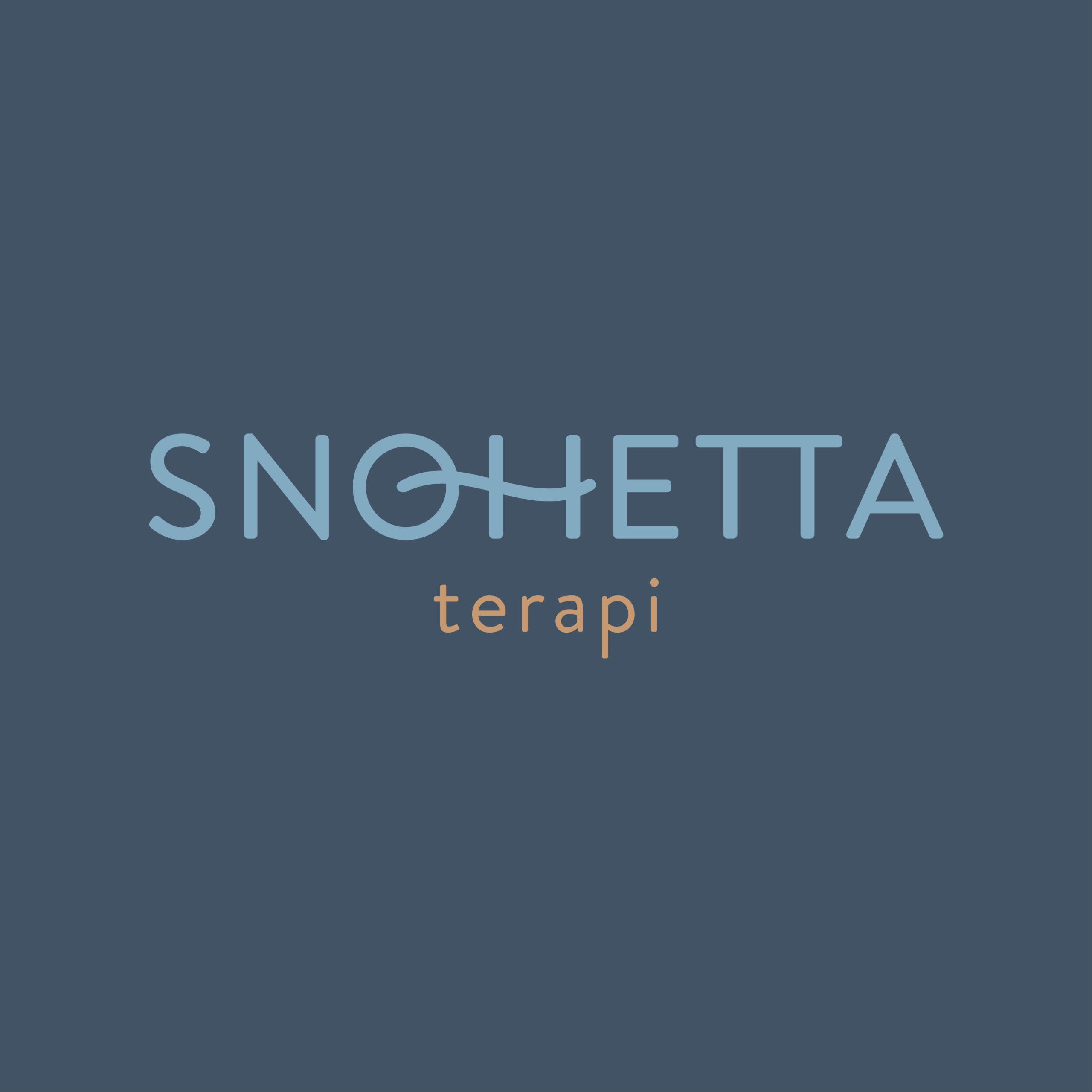 Logo og visuell profil for Snøhetta Terapi i Folldal, laget av Haus Byrå