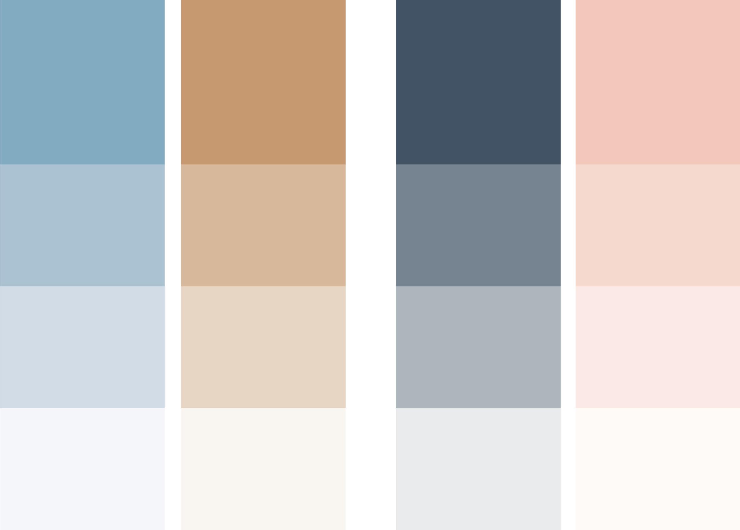 Fargepalett og visuell profil for Snøhetta Terapi, laget av Haus Byrå