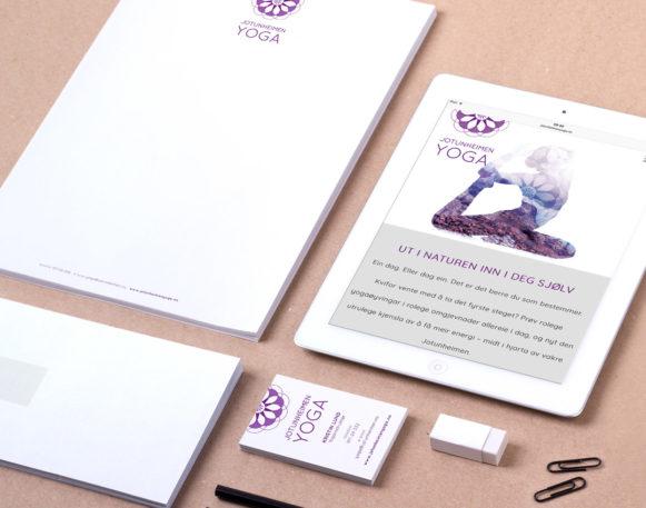 Grafisk profil som Haus Byrå har laget for Jotunheimen Yoga