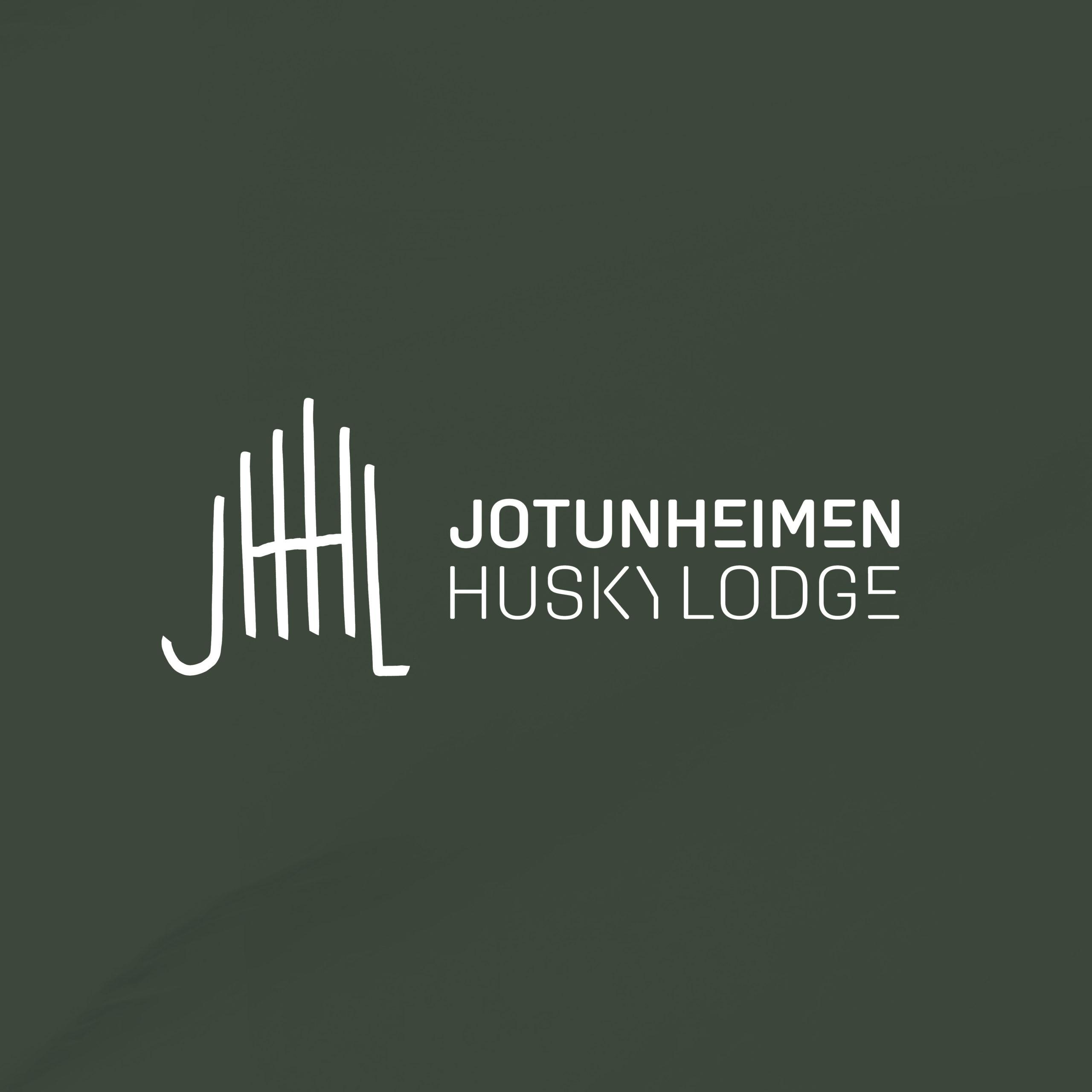 Logo for Jotunheimen Husky Lodge, laget av Haus Byrå