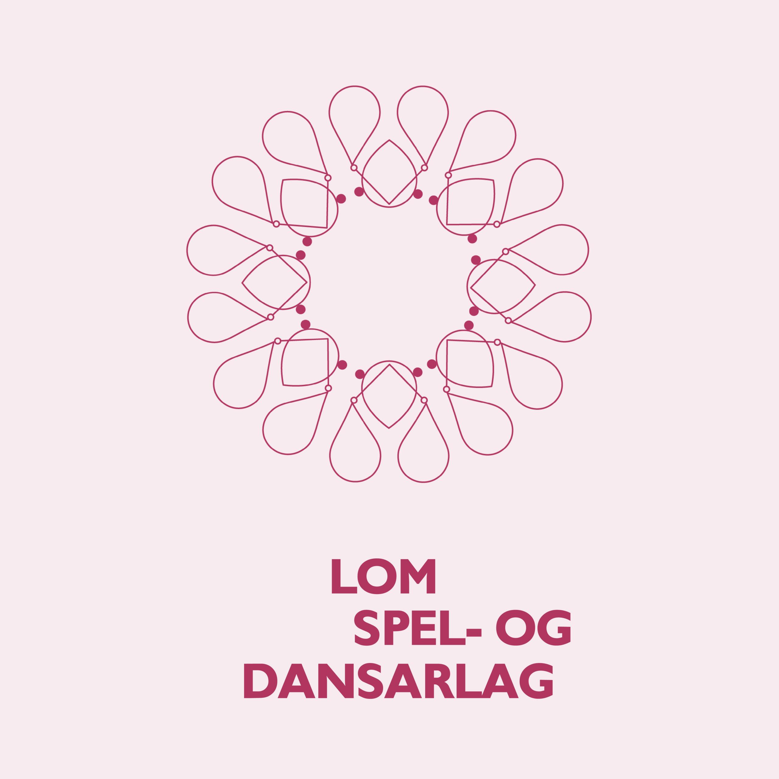 Logo for Lom spel- og dansarlag, laget av Haus Byrå