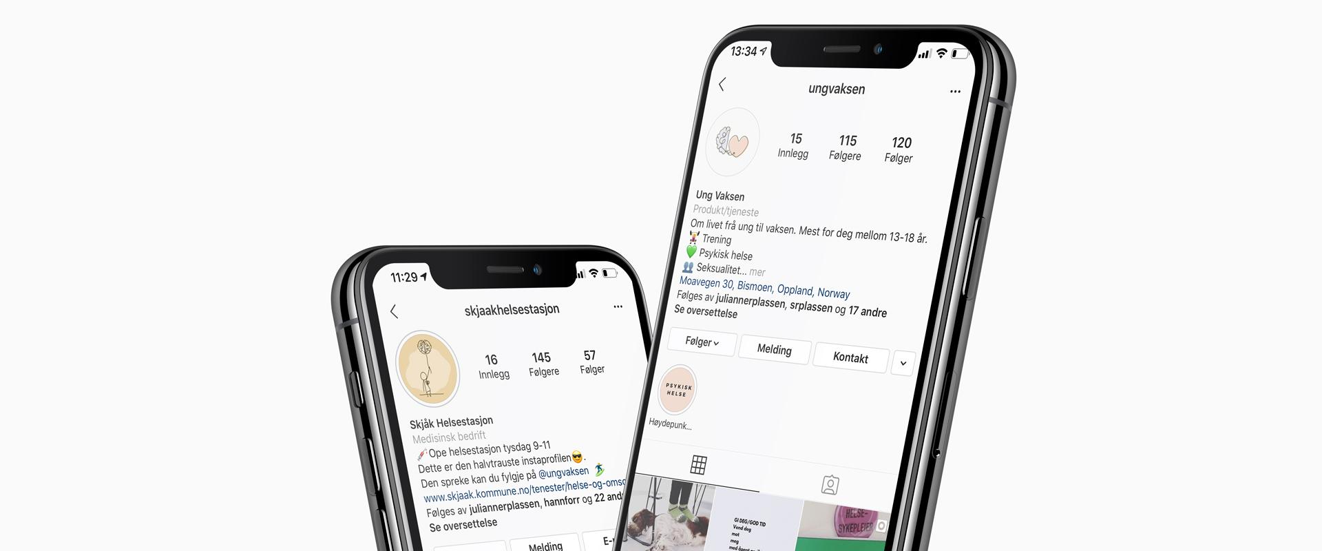 Instagramkampanje for Skjåk helsestasjon