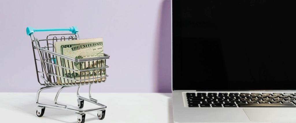 hva koster nettbutikk - illustrasjonsbilde