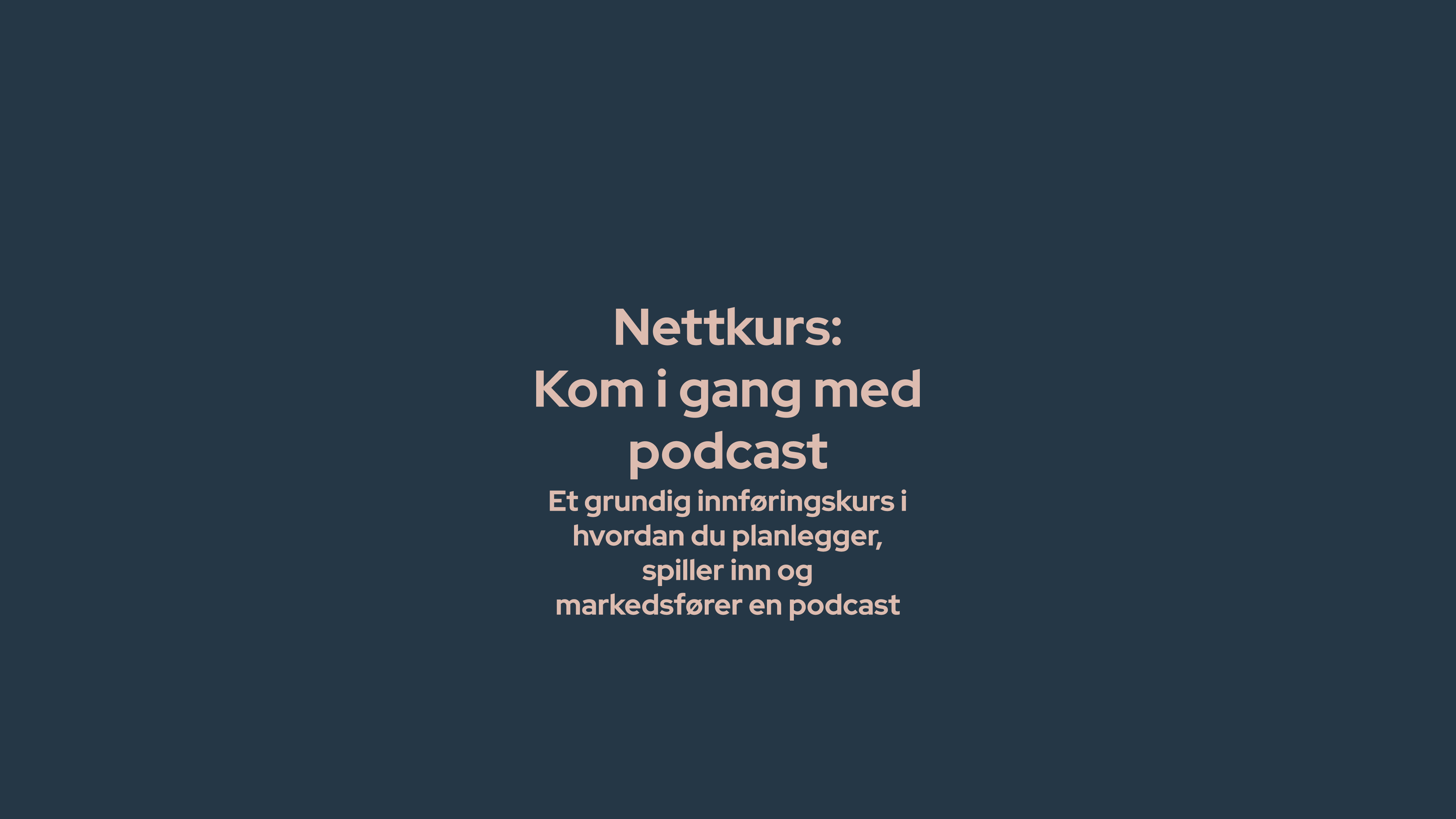 kurs i podcast