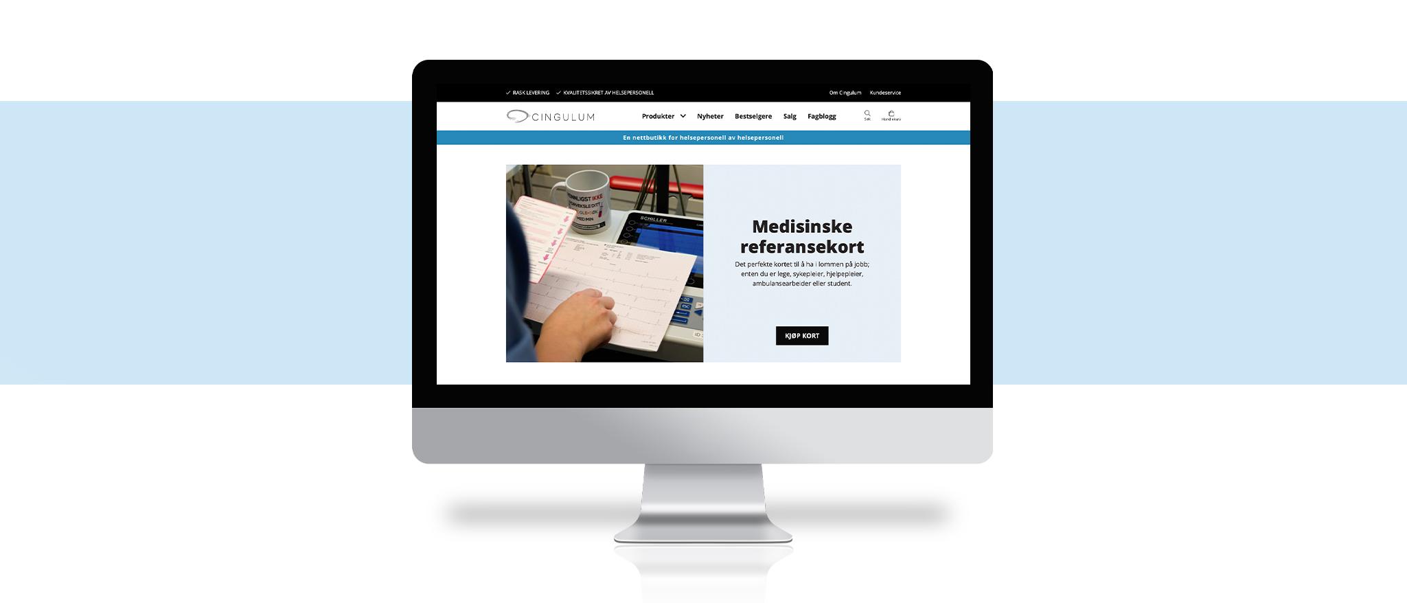Bilde av nettbutikken til Cingulum, laget av Haus Byrå