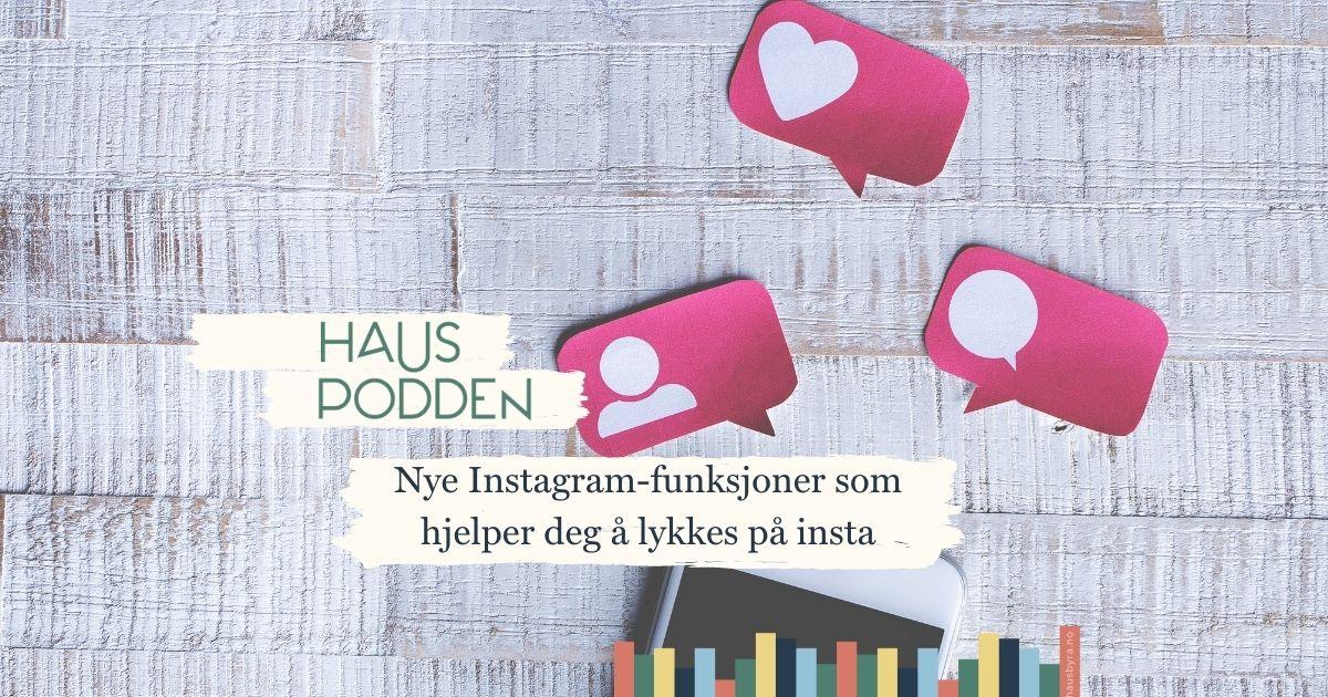 instagram-ikoner som illustrasjonsbilde til podcast om instagram
